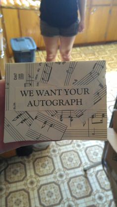 To sit on the guest table at our music theme wedding