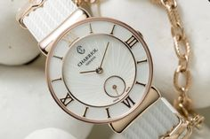 """St-Tropez Watch """"Infinite Summer"""" White rubber strap by Charriol ... WEEE what a day!! I found it!! Carl Tam! Wedding gift HAHAHAHA!!"""
