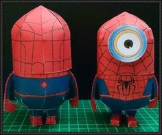 Spider-Man Minion Free Papercraft Download | PaperCraftSquare.com