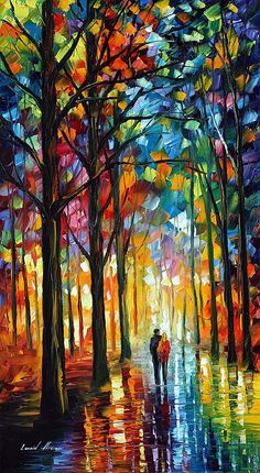 Artists leonid afremov Knife painting Works Park umbrella walking woman Canvas Art Oil Painting Home Decor Wall Art Scenery Wallpaper, Landscape Wallpaper, Oil Painting On Canvas, Canvas Art, Knife Painting, Painting Art, Oil Painting Gallery, Painting Lessons, Large Painting