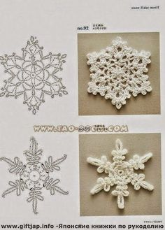 Patrones de Adornos navideños al crochet