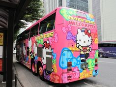 Hello Kitty bus in Tokyo, Japan