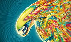 Rainbow alien