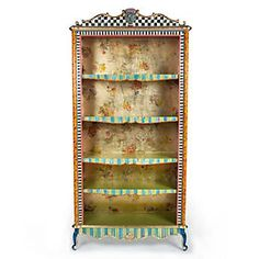 How about bookcases like these. I have wanted to do a knock off of her stuff years...never have. Arlecchino Bookcase
