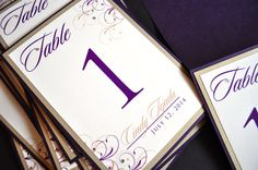 Table Numbers for weddings by JaxDesigns27 on Etsy, $4.25