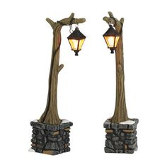 Department 56 Accessories for Village Collections Woodland Lampposts 512Inch Set of 2 >>> You can get more details by clicking on the image. Note:It is Affiliate Link to Amazon.