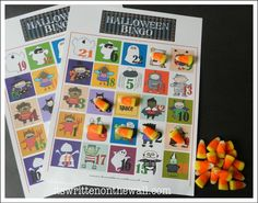 (Freebie) Halloween Bingo for home or school parties. 14 different sheets. Just need to be a friend of our facebook page.   www.facebook.com/itswrittenonthewall