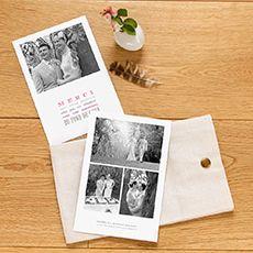 Carte de remerciement mariage Le plus beau jour (4 photos)