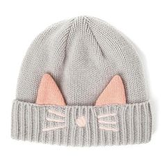 f45f523e14b23 Cat Beanie with Ears and Whiskers