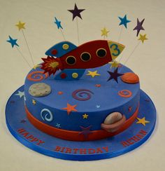 Travel through space with this awesome #RocketCake!