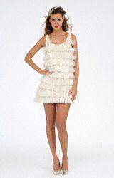 Priscilla of Boston flapper wedding dress.
