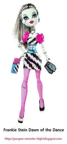 Poupée Monster High Frankie Stein Dawn of the Dance.  Cette troisième déclinaison apparait en Septembre 2010 et en juillet 2011.