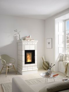 Farmhouse Fireplace, Stove Fireplace, Fireplace Design, Wood Burner Stove, I Love House, Dream House Interior, Cozy Corner, Large Homes, Interior Design Inspiration