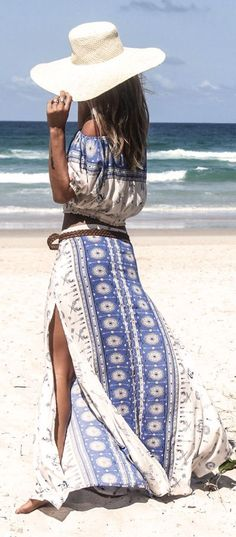 Bohemian Chic Maxi Dress-SR