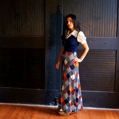 70s Bohemian Layered Patchwork Look Maxi Dress  by RenegadeRevival, $63.00