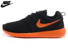 new arrival 4ad2a 5461a 2013 Mens Nike Roshe One Mesh Running Shoes Coal Black Orange,Wholesale  Cheap Nike,