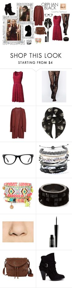 """Orphan Black"" by bebe6121985 ❤ liked on Polyvore featuring Mountain Hardwear, Gipsy, H&M, Yves Saint Laurent, Muse, Domo Beads, Monsoon, Atelier Swarovski, Lord & Berry and The Sak"