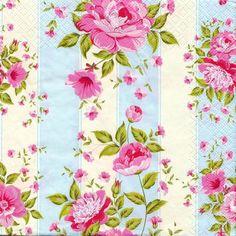 """2 Decoupage paper Napkins Flowers/Floral/Herbal Roses 13""""x13"""" cm. 2 pcs"""