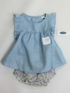 NWT Baby Girls Old Navy 6 12 18 Months Blue Flutter Top Ditsy Flower Bloomer Set | Clothing, Shoes & Accessories, Baby & Toddler Clothing, Girls' Clothing (Newborn-5T) | eBay!