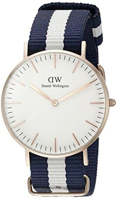 Daniel Wellington - 0503DW - Glasgow - Montre Mixte - Quartz Analogique - Cadran Rose - Bracelet Nylon Multicolore 2017 #2017, #Montresbracelet