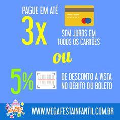A animação da festa do seu filho no tamanho do seu bolso. Pague em 03 vezes sem juros; com desconto a vista ou ainda mais opções. Aceitamos todos os cartões de débito e crédito. Para mais informações acesse: www.megafestainfantil.com.br ou ligue para Grande São Paulo (11) 2626-8923, Campinas e Região (19) 3892-5074, Whatts: (11) 9-4252-3838, falecom@megagrupo.com.br #megafestainfantil #festaparameninos #festaparameninas #festatradicional #animadoresatenciosos #festadivertida…