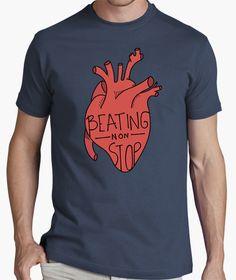 Camiseta Beating non stop | Heart  | t-shirt design