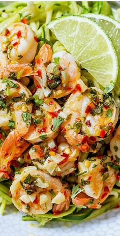 Cilantro Lime Shrimp with Zucchini Noodles — Eatwell101