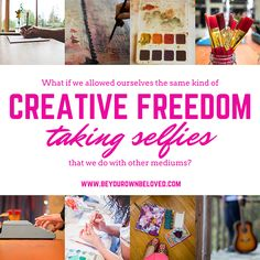 Feeling creative freedom with self-portraits. Love this post from Vivienne McMaster