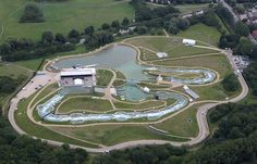 An aerial view of the Lee Valley White Water Centre, which will host the canoe slalom events during the London Olympics.