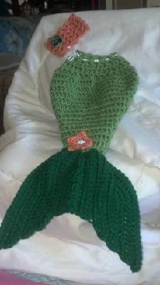 Mermaid Cocoon with Headband