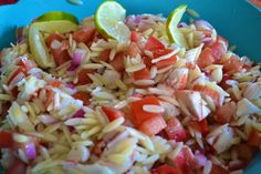 """""""Point-less"""" Meals: Orzo Crab Salad  One of my all-time favorite summer pasta salads...simple ingredients with a light and refreshing taste!"""