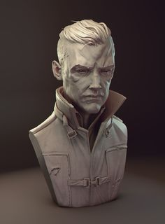 'Hipster' Outsider #Dishonored 3-D digital #sculpture #art  <3 by James W. Cain http://www.jameswcain.co.uk/post/116044216292/its-been-a-while-since-an-update-from-me-im
