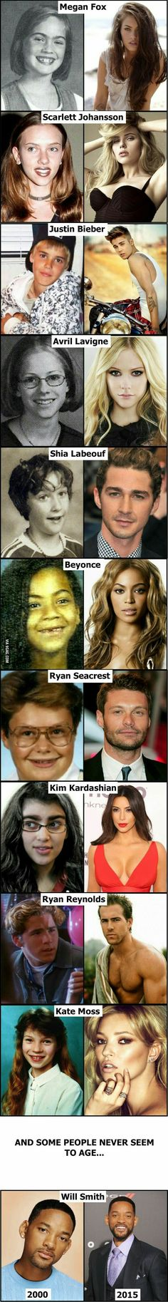Celebs before and after fame. Will Smith never ages.