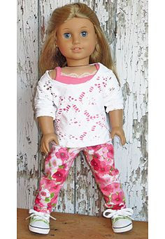 Trendy pants outfit for American Girl doll