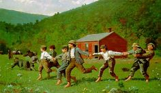 Winslow Homer - Snap the Whip -Repinned by Totetude.com