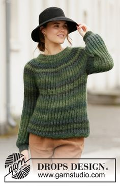 Winter willow / DROPS – free knitting patterns by DROPS design – The Best Ideas Knitting Designs, Knitting Patterns Free, Knit Patterns, Free Knitting, Drops Design, Drops Kid Silk, Work Tops, Pulls, Pullover Sweaters