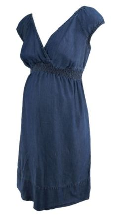 Blue A Pea in the Pod Casual Jeans Maternity Dress (Like New - Size Small) - Motherhood Closet - Maternity Consignment