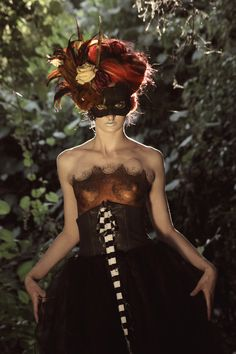 "Handmade Masquerade Mask: ""Amanda"". via Etsy."