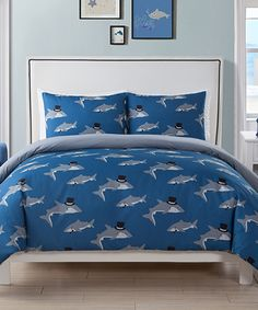 6 Piece Comforter Set Kids Bed In A Bag  Twin (Shark)   Baby/Kids    Pinterest   Comforter, Twins And Twin Beds