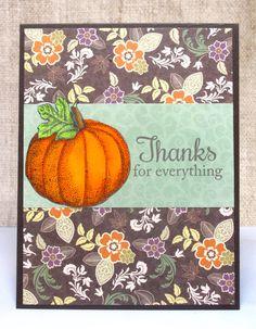 Thank You Pumpkin Fall Card