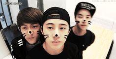 so cute donghyuk B.I and jinhwan from  IKON ♥