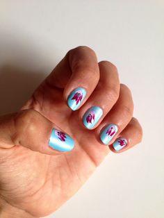 #manicura #celeste con #flores estilo #japones #japanese #inspired #manicure #flowers http://amisqueridasmujeres.blogspot.com.es/ https://www.facebook.com/redlipsmakeup?ref=hl http://redlipsmakeupstudio.com/