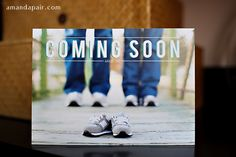 expecting baby announcements - We could do this with our converse... maybe sitting so you can see us kissing in the fuzzy background...