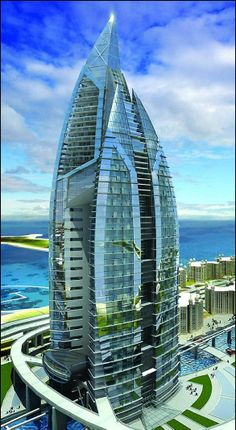 ♀ Modern architecture exterior - Trump Hotel - Dubai