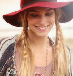Bohemian Loose pigtails with braids