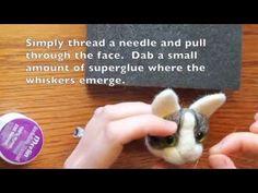 How I make a needle felted cat head brooch. www.carolinegrayillustration.com @CaroGrayCreates