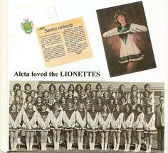 1976 Borah High School Lionettes.