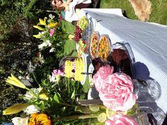 Backyard garden party bridal shower brunch #vegan #glutenfree