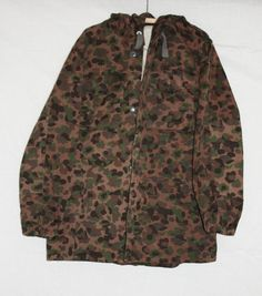 Vintage Camouflage Hooded Parka Austria Army by ilovevintagestuff