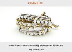 チャンルー CHAN LUU/ハウライト&ゴールド&コットンコード/6ラップブレス - チャンルー CHAN LUU ブレスレット C's GALLERIA